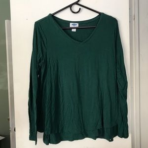 Old Navy Forest Green Maternity/Nursing Top